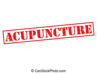 ACUPUNCTURE red Rubber Stamp over a white background.