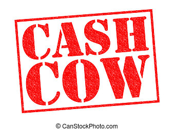 CASH COW red Rubber Stamp over a white background