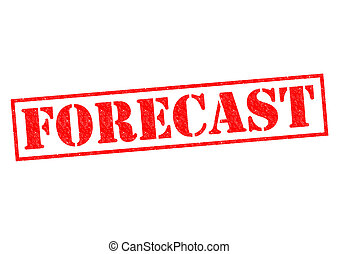 FORECAST red Rubber Stamps over a white background