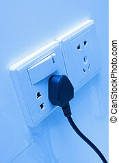 Electric socket on the wall