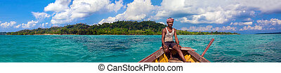 Havelock Island - Panoramic view of the Havelock Island...