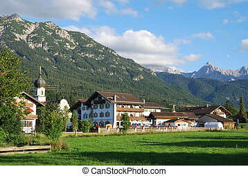 Bavaria - The village of Kr�n in the Karwendel...