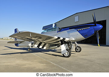 wwii fighter plane P-51 Mustang - blue nose P-51 Mustang...