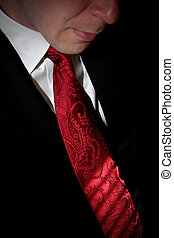 Well Dressed Man - Closeup detail of a groom or business man...