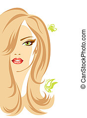 Vector illustration of the female person