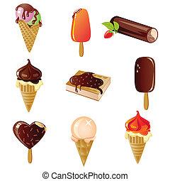 Vector set of  ice cream