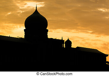 Islamic Dome Silhouette - Islamic mosque dome silhouette