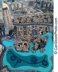 Dubai Downtown District, UAE - Dubai Downtown District...