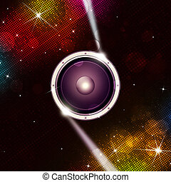 Multicolor Disco Music Background - abstract digital...