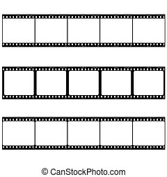 photo film strip - Strip of three reels with room to add...