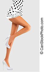 cintura, nalgas, piernas