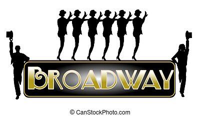 broadway concept with chorus line