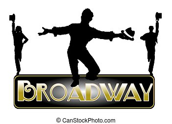 broadway concept with principle male dancer
