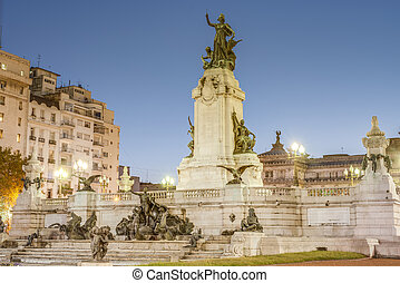Congress Square in Buenos Aires, Argentina - Congress Square...