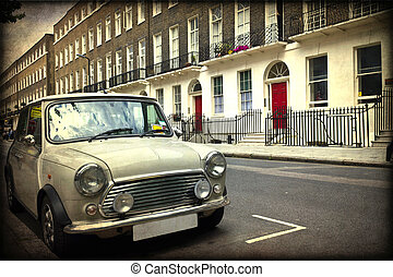 London - Classic British car on the streets of London