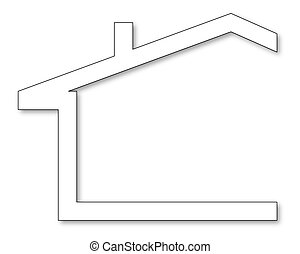 Silhouettes of houses - The silhouette of the house with a...