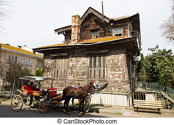 Old Wooden House in Princes Islands, Istanbul