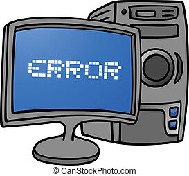 Error pc - Creative design of error pc