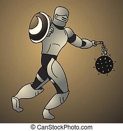 Vintage armor soldier - Creative design of vintage armor...