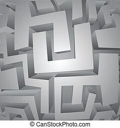 Art maze - Creative design of art maze