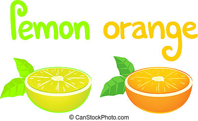 Flavour lemon and orange - Creative design of flavour lemon...