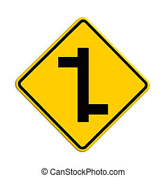 intersection sign, Part of a series