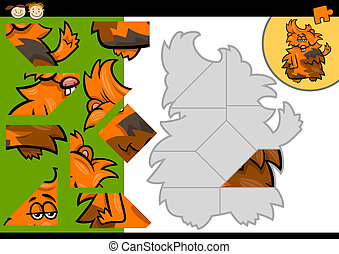 cartoon guinea pig jigsaw puzzle game - Cartoon Illustration...