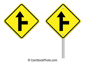 three intersection sign