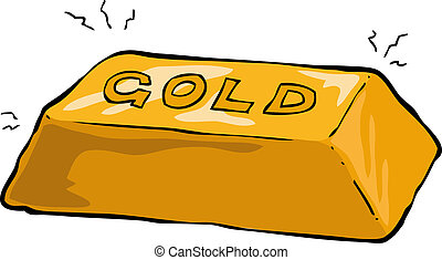 Gold bullion on a white background vector illustration