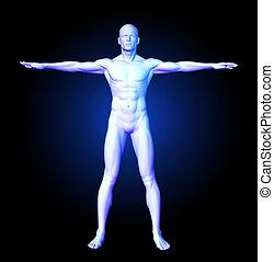 Medical man in standing pose