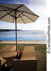 Dreamland beach - Wicker chairs on a Dreamland beach. The...