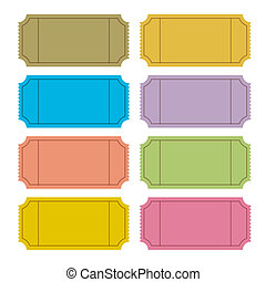 Colorful Vector Ticket Set Illustra