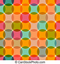 Seamless Retro Circles Colorful Background