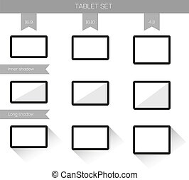 Collection of 9 tablet illustrations - Set of tablet...