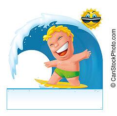 Surfer banner