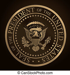 US Golden Presidential Sealcdr - Highly detailed vector...