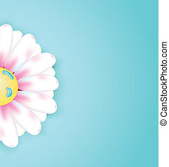 Spring abstract floral background with flower