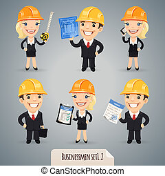 Businessmen Cartoon Characters Set1.2 - Businessmen Cartoon...