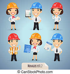 Managers Cartoon Characters Set1.2 - Managers Cartoon...