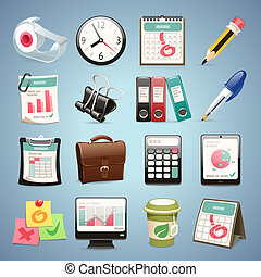 Office Equipment Icons Set1.1 In the EPS file, each element...