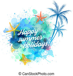 Summer vacation background - Summer background with...