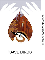 Save birds - Propaganda posters save wild birds