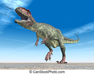 Dinosaur Giganotosaurus - Computer generated 3D illustration...