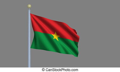 Flag of Burkina Faso with alpha matte