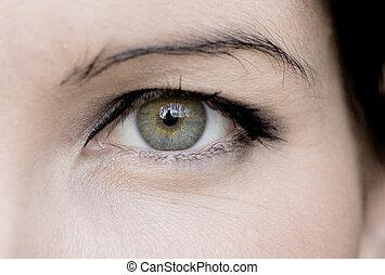 Blue woman\'s eye
