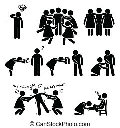 Casanova Womanizer Clipart - A set of human pictograms...