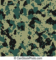 Digital flora seamless camo