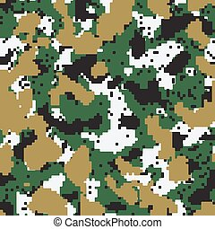 Digital green seamless camo