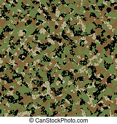 Digital woodland seamless camo