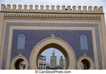 Blue Gate - Historic Blue Gate into the ancient medina of...